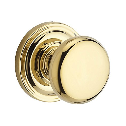 Baldwin Reserve 9BR3500-025 Traditional Round Half-Dummy Knob in Polished (Baldwin Brass Half Dummy Knob)