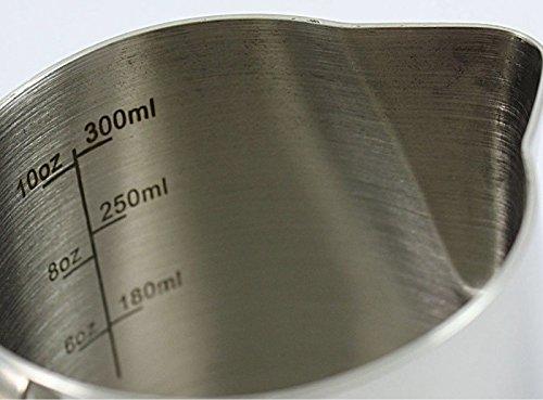 BrewGlobal Rhinoware Professional Milk Pitcher, Stainless Steel 12 oz (RHMJ12OZ) by Rhino Coffee Gear