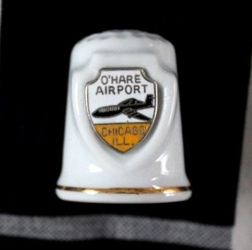 Ceramic Thimble - O'Hare Airport, - Stores Ohare Airport