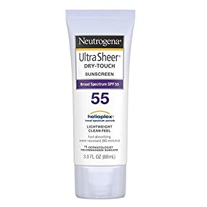 Neutrogena Ultra Sheer Dry-Touch Sunscreen SPF 55 3 oz (Pack of 4)