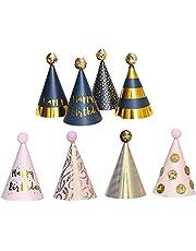 8 Stuks Feestmuts Verjaardag, Verjaardag Feest Hoed, Feestje Verjaardag Versiering Hoed, Geschikt voor Verjaardagsfeestjes met een Vrolijke Feestsfeer (Acht Modellen)