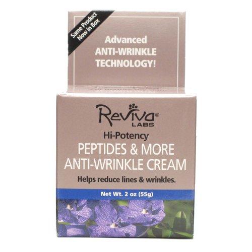 Reviva Labs Crème anti-rides, Peptides & More, deux onces (55 g)