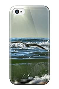 Durable Defender Case For Iphone 4/4s Tpu Cover(waves)