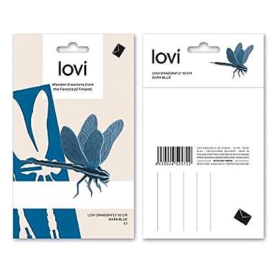 LOVI Dragonfly 3D Puzzle - Blue Wood - Postcard - 10 cm: Home & Kitchen