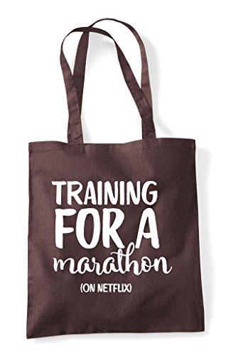 Netflix Brown Marathon Training A Shopper On For Tote Bag xnqwTCIZwF