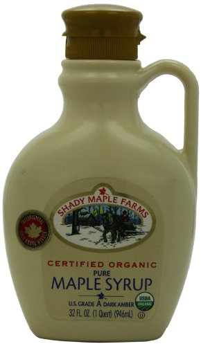 Shady Maple Farms Organic Maple Syrup Grade A, Dark Amber, 32 ()