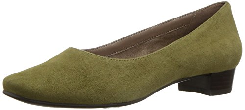 bway Dress Pump, mid green suede, 8.5 W US ()