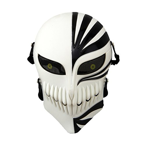 CCTRO Airsoft Skull Face Mask, Full Face Protective Tactical Masks Gear for Airsoft Paintball Outdoor Cs War Game BB Gun Cool Scary Ghost Halloween Party Mask]()