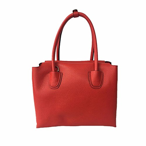 LA CARRIE BAG donna rosso ecopelle mod 171-V-671 BASIC SHOPPING BOTTOLATO