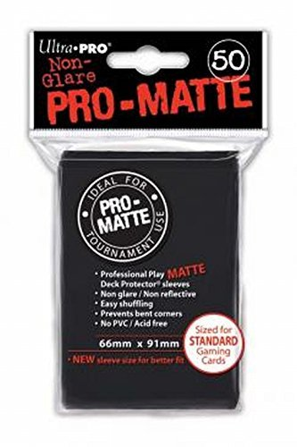 - Ultra Pro PRO-Matte Standard Size Deck Protector Sleeves for Magic, Pokemon and Dragon Ball Super - Black (50 ct)
