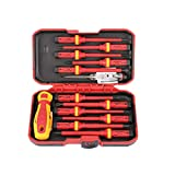 ULTECHNOVO 13pcs 1000V Changeable Insulated Screwdrivers Set Magnetic Slotted Pozidriv Torx Bits Electrician Tools Hand Tools