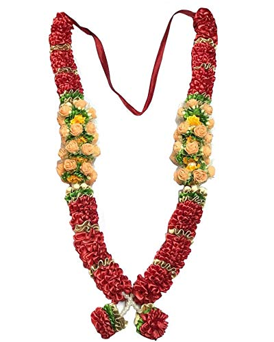 Krisah Artificial Garland Artificial Pearls;Beads;Stones (Red, 1 Piece)
