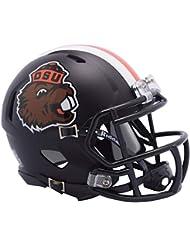 d552065ca Oregon State Beavers Beaver Satin Black Riddell Speed Mini Football Helmet  - New in Riddell Box