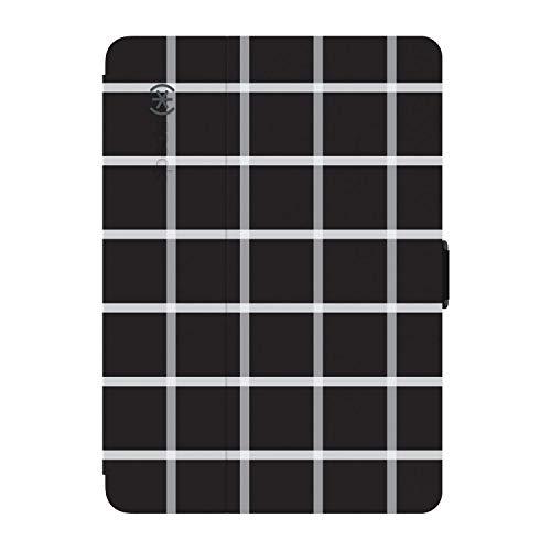 Stylefolio iPad Mini 4 Case - Black and White Windowpane Plaid / Black