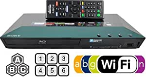 SONY BDP-S3100 Multi Zone All Region Code Free Wi-Fi DVD Blu ray Player - 1 USB, 1 HDMI, 1 COAX, 1 ETHERNET + 6 Feet HDMI Cable Included. Compact Size (W x D x H) 290 x 193 x 42 mm. 100~240V 50/60Hz Int'l Version with EU/UK Power Plug (2m HDMi Cable Included)