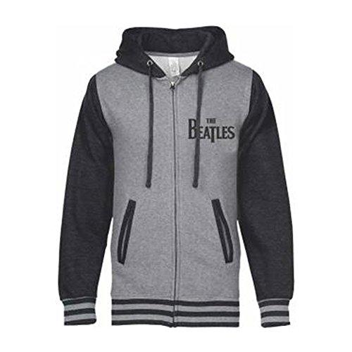 Beatles Men's Classic Logo Varsity Jacket Large Grey by Beatles