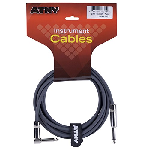 ATNY Classic Electric Guitar Cable - Professional Grade Musical Instrument Amplifier Cord with Nickel-Plated Straight to Right Plugs [10 Feet]