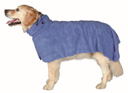 Trixie Bademantel/Hunde, Gr. XL, Mikrofaser, 75 cm, blau
