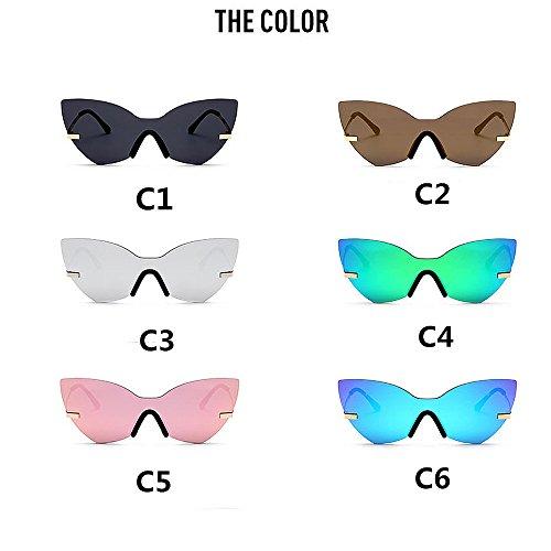 Sol de para Mariposa Forma Libre Mujeres Color de al Gafas Protección Vintage C6 Pieza C3 Que Personalidad Peggy de viaja Sola UV conducen Gu una Que Aire de C7qwO