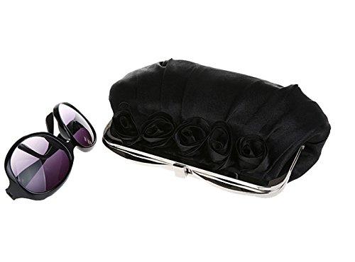 La Mode Rose Satin de sac Fleurs Heyjewels pochette Femme Package fqwd41gA