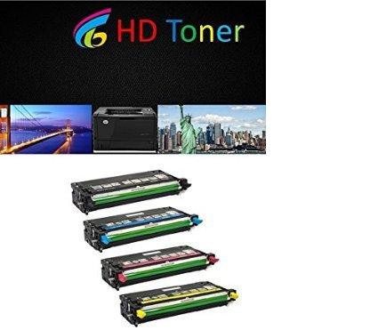 HD Toner Dell 3130 4 Pack of Replacement Toner Cartridges Set
