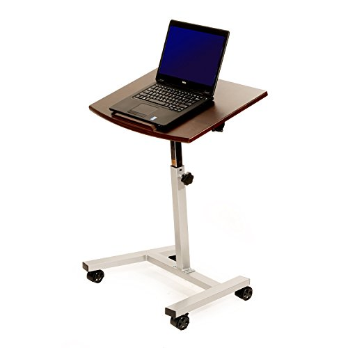 Seville Classics Tilting Mobile Laptop Desk Cart