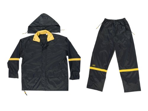 Custom Leathercraft Rain Wear R103M Black Nylon 3-Piece R...