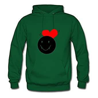 For Women Cotton Green Custom Long-sleeve Unique Vampire With Heart Sweatshirts X-large