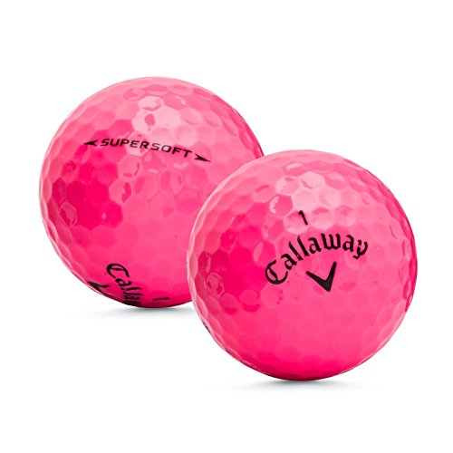 1 Dozen Callaway Supersoft Pink Mint 5A Recycled Golf Balls