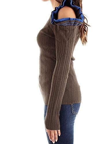 Femme Coton Annarita Pullover 7718verde Vert N wF14FB
