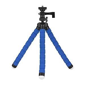 Flexible Sponge Octopus Tripod with 360° Ballhead for Smartphone GoPro Camera Camcoder Blue
