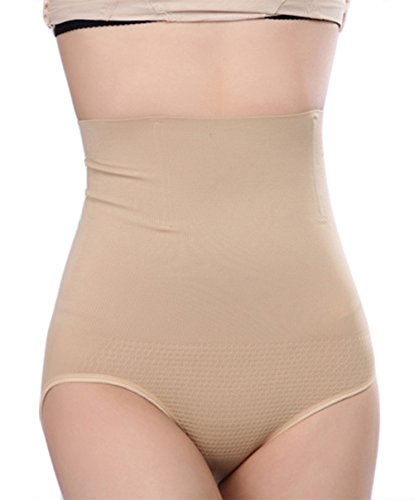 Shymay Women's Shapewear Hi-waist Full Brief Firm Control Tummy Slimming, Nude, Tag size L/XL1=US size X-Large