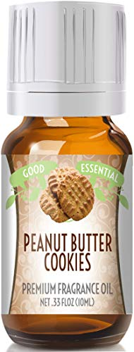 Peanut Butter Cookies Scented Oil by Good Essential (Premium Grade Fragrance Oil) - Perfect for Aromatherapy, Soaps, Candles, Slime, Lotions, and ()