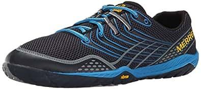 Merrell Men's Trail Glove 3 Trail Running Shoe, Navy/Racer Blue, 7.5 M US