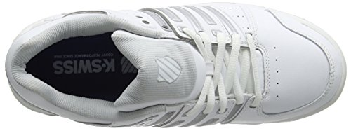 Blanc LTR Chaussures Swiss Femme White Tennis Omni K Silver Performance 107 de Accomplish Glcrgray qzwddXct
