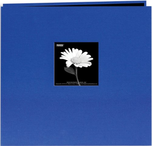 (Book Cloth Cover Postbound Album With Window 12