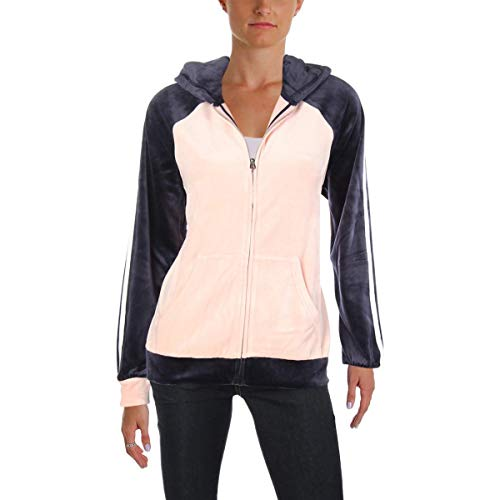 Juicy Couture Black Label Womens Velour Lightweight Track Jacket Pink M