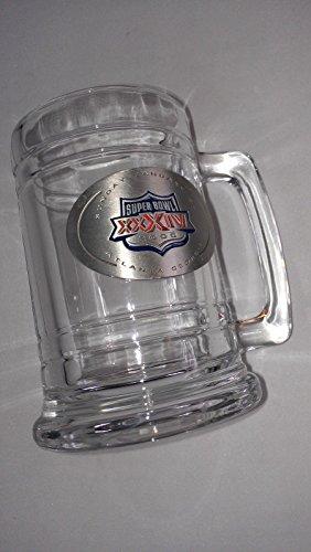 Super Bowl XXXIV Glass Mug Stein Cup 2000 Atlanta Georgia NFL Football Pewter (Football Pewter Nfl)