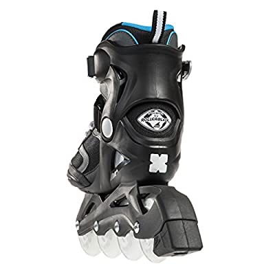 Bladerunner by Rollerblade Advantage Pro XT Women's Adult Fitness Inline Skate, Black and Light Blue, Inline Skates : Sports & Outdoors