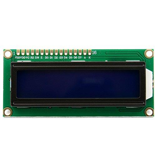 HiLetgo 2pcs DC3.3V HD44780 1602 16x2 Character LCD Display Adapter Module Blue Backlight for Arduino UNO R3 MEGA2560 Nano Due Raspberry Pi
