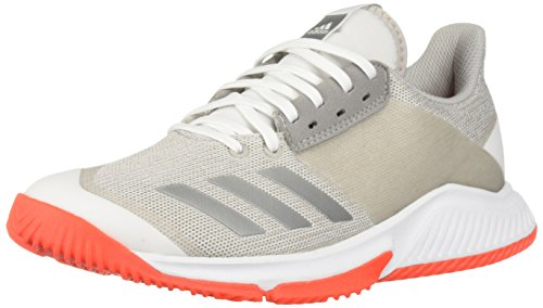 adidas Women's Crazyflight Team Volleyball Shoe, White/Silver Metallic/Grey, 8.5 M US