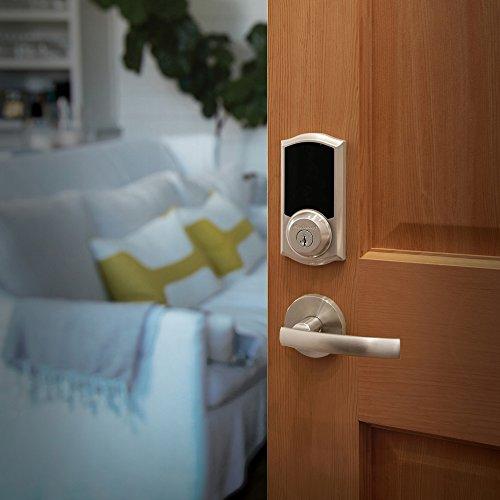 Kwikset 99160-008 SmartCode ZigBee Touchscreen Smart Lock works with Echo Plus & Alexa, featuring SmartKey, Satin Nickel by Kwikset (Image #7)