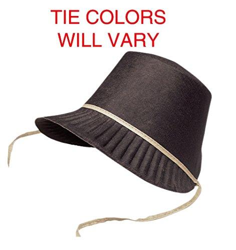 Pilgrim Bonnet Pressed Felt Costume Shaker Quaker Hat Amish Bonnet