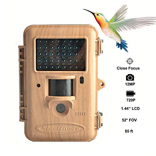 (Trail Game Camera,12MP Scouting Camera 1.44'' LCD 720P 85FT Detection Range Bird Watching Camera with Black IR LEDs Trail Hunting Cameras Supports Two Focus Capturing Far and Near)