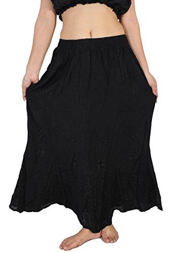 Black Reino World Mujer S De M Renaissance Dancers Del Medieval L Falda vendedor l Piedra m Bordada Gypsy S M Unido Ltd Boho dIq6SZnqUw