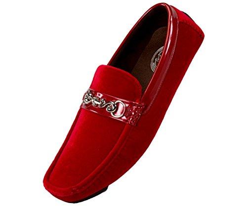 Amali Mens Velvet Loafer Smoking Slipper Dress Shoe with Embellished Bit Style Piero