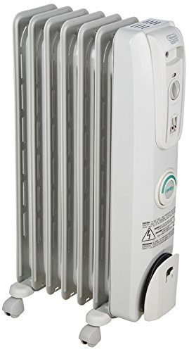 DeLonghi EW7707CM Comfort Temp Full Room Radiant Heater, 27 x 6.5 x 15.5, Light Gray