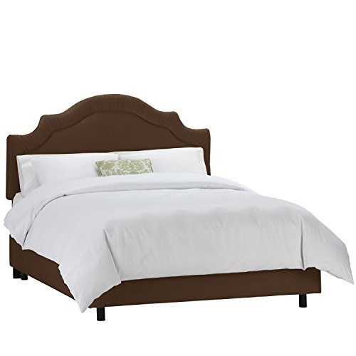 Skyline Furniture Twill Chocolate Shirred Notch Bed (Shirred Upholstered Headboard)