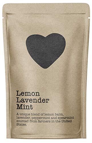 Lemon Lavender Mint, 15-20 Servings, 2 Ounce Pouch, Caffeine Free, Pure Loose Leaf Tea Grown in America