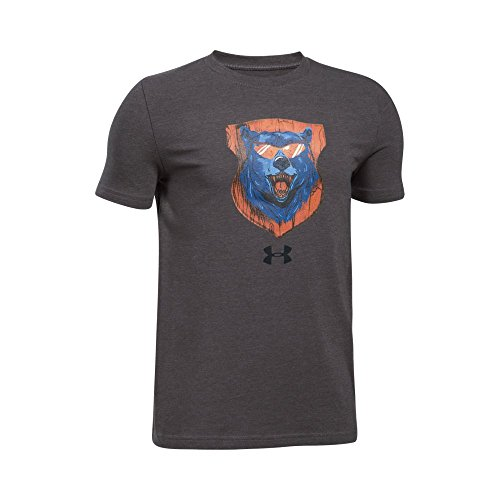 Under Armour Boys' Trophy Collection #1 T-Shirt,Charcoal Light Heath (019)/Black, Youth X-Large Collection Under Armour